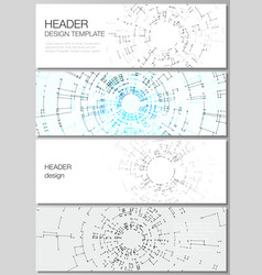 The minimalistic layout of headers banner vector