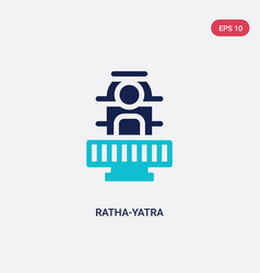 Two color ratha-yatra icon from india concept vector