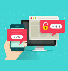 two step authentication flat vector image