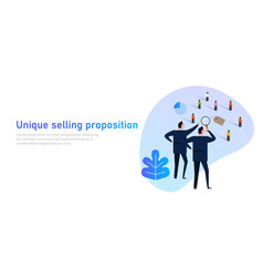 Unique selling proposition usp product marketing vector