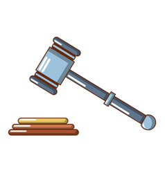 up judge gavel icon cartoon style vector image