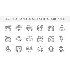 Used car dealership icon vector