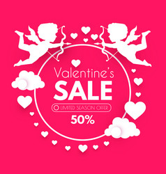 valentine s day sale cute design template vector image