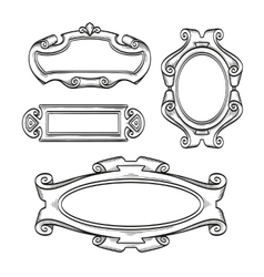 Vintage cartouches isolated vector