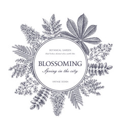 Vintage floral template vector