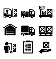 Warehouse Storage and Logistic Icons Set vector