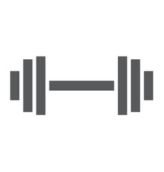 weightlifting glyph icon gym and sport barbell vector image