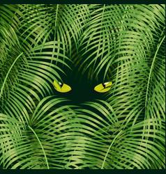 Wild cat eyes vector