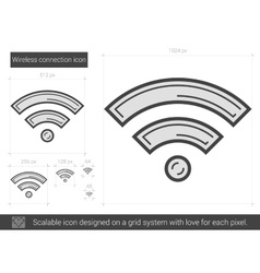 Wireless connection line icon vector