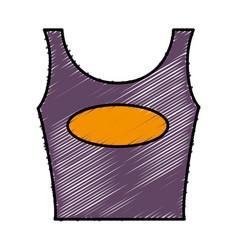 Woman blouse icon vector