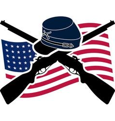 American Civil War Union vector image vector image