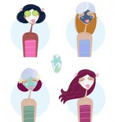 facial treatment women vector image vector image