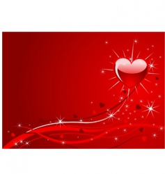 sparkle red valentine background vector image vector image