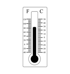 Thermometer icon weather sign vector