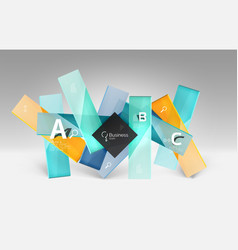 3d geometric abstract background template vector image