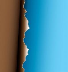 Brown peel vector