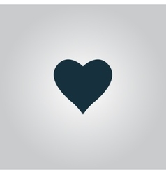 Heart pictogram vector image
