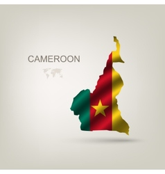 Flag of Cameroon as a country vector image