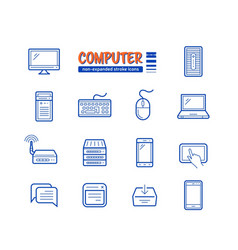 network and mobile devices vector image vector image