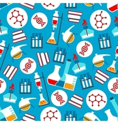 Science and research seamless pattern vector image vector image