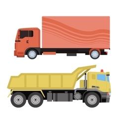 Trucks van vector image