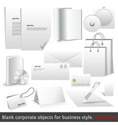 blank corporate objects vector image vector image