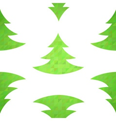 Christmas tree decorative seamless pattern vector image