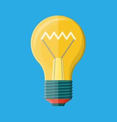 glass light bulb isolated on blue vector image