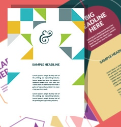 A4 brochure template vector