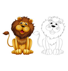 Animals Outline Lion Vector Images Over 2 300 Different animals cartoon,outline icons in set collection for design. animals outline lion vector images