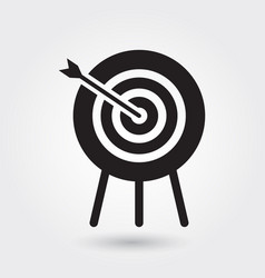 archery icon sports symbol modern simple glyph vector image