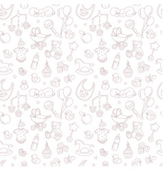 bashower seamless pattern vector image