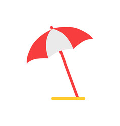 beach umbrella emblem cartoon isolated icon vector image