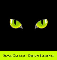 Black cat eyes vector