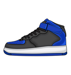 blue basketball shoes design vector image
