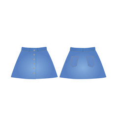 blue denim skirt vector image