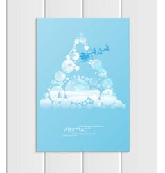 Brochure a5 or a4 format design christmas santa vector