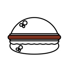 Burger fast food outline vector