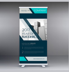 Business standee roll up banner design vector