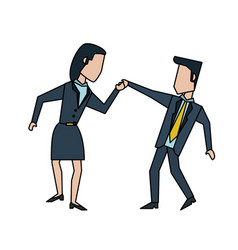 businessman and woman colleagues avatar icon image vector image