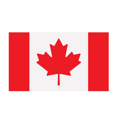 canadian flag isolated on white background vector image