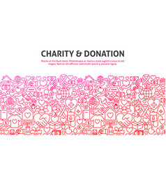 Charity and donation concept vector