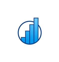 chart business finance blue logo vector image