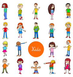 children and teens characters large set vector image