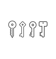 collection keys logo icon graphic design vector image