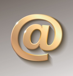 Colored email symbol vector