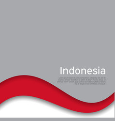 Cover banner in national colors flag indonesia vector