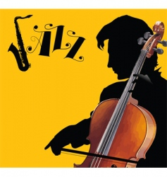 Cover violoncello vector