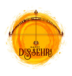 Creative happy dussehra festival greeting design vector