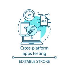 Cross platform applications testing concept icon vector